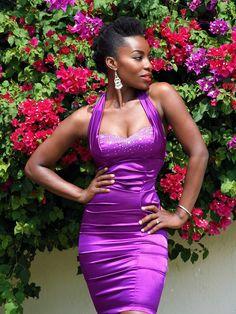12e8d0b8f DeAnne Roye Purple Dress Green And Purple, Purple Rain, Black Women  Fashion, Tight