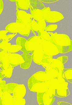 grey color and #yellow #flowers #illustration #art