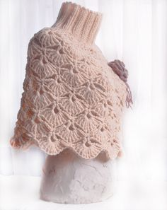 Hand  crochet   Capelet in peach colors for a Lady. by Benivision, $69.00