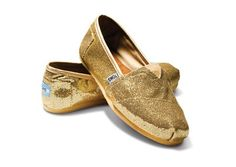 whenever buying glittery gold shoes equals charity, life is good.
