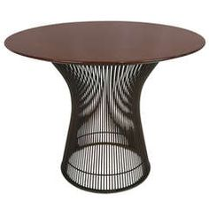 Bronze and Walnut Side Table by Warren Platner for Knoll | From a unique collection of antique and modern side tables at https://www.1stdibs.com/furniture/tables/side-tables/