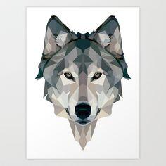 Wolf+Art+Print+by+CrunchyPeanut+-+$20.00