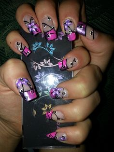 FLOWERS IN PINK by R7777 - Nail Art Gallery nailartgallery.nailsmag.com by Nails Magazine www.nailsmag.com #nailart