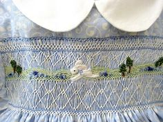 LOVE how the embroidery is incorporated into the smocking!