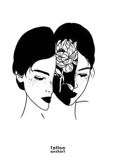 tattooanshort@gmail.com Art Sketches, Art Drawings, Aesthetic Art, Aesthetic Drawing, White Art, Dark Art, Art Inspo, Cool Art, Illustration Art