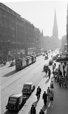 Mönckebergstraße, Foto Germin 1937, Hamburg