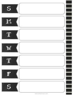 weekly calendar maker with a chalkboard design Free Printable Weekly Calendar, Blank Monthly Calendar, Weekly Planner Template, Excel Calendar, Custom Calendar, Calendar Templates, Zentangle, Chalkboard Designs, Make It Yourself