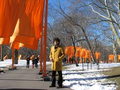 Christo, Central Park, 2005, #nyc #ny #christo #american #orange #visit #ContemporaryArt #snow #newyorkcity #landart #art #land Moma Collection, Land Art, Central Park, Nyc, Orange, American, New York