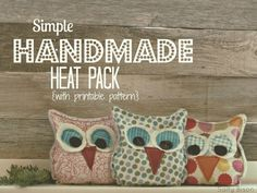 Free Sewing Pattern and Tutorial - Handmade Owl Heat Pack