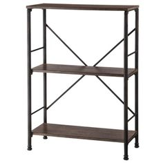 Threshold™ Mixed Material 2 Shelf Bookcase - Brown
