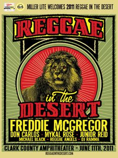 Reggae in the Desert promotional artwork