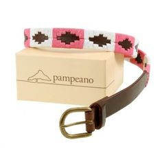 Pampeano s Luxury Hand Stitched Skinny Polo Belt - Bonita is Hand stitched and made with the finest vegetable tanned leather in Argentina 2 5cm Pink