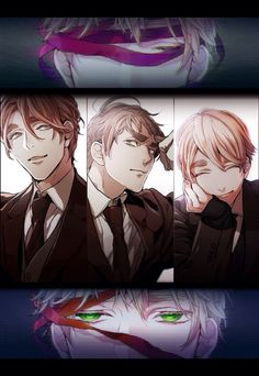 Hetalia (ヘタリア) - The Kirkland brothers - Wales, Scotland, N. Ireland, & England - 「KLD48」by あまざき