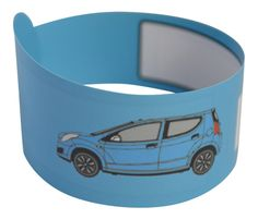 blue childrens id bracelet CAR