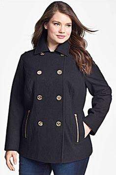 short black denim plus size jacket. http://www.delightfullycurvy