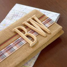 Easy Road Map Folder Made from a Place Mat  This is a cool idea for a handcrafted christmas gift