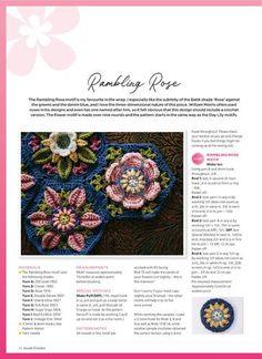 Crochet Mandala Pattern, Crochet Stitches Patterns, Crochet Chart, Diy Crochet Granny Square, Crochet Squares, Crochet Bunny, Crochet Flowers, Simply Crochet, Crochet Shell Stitch