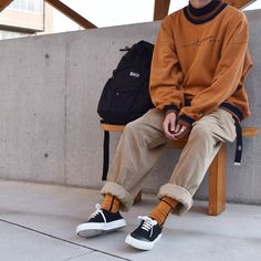 elevated lebowski-core (baggy andro silhouettes and interesting color palettes) - Men's style, accessories, mens fashion trends 2020 Indie Outfits, Retro Outfits, Trendy Outfits, Cool Outfits, Vintage Outfits, Fashion Outfits, Boy Fashion, Casual Hipster Outfits, Male Outfits