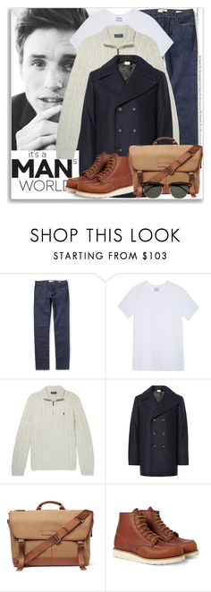 """""""Man of Style: Eddie Redmayne"""" by coraline-marie ❤ liked on Polyvore featuring Acne Studios, Club Monaco, Want Les Essentiels de la Vie, Red Wing, Ray-Ban, men's fashion and menswear"""