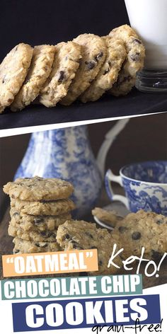 Are you kidding me? Keto cookies that look, taste, and feel just like oatmeal cookies! These are beyond brilliant. Ground almonds and coconut give these delicious sugar-free and grain-free treats their oatmeal like texture. So good and kids love them. Ketogenic Desserts, Keto Friendly Desserts, Low Carb Desserts, Healthy Desserts, Healthy Food, Healthy Meals, Ketogenic Diet, Sugar Free Oatmeal, Low Carb Oatmeal