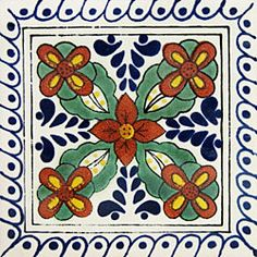 Infuse the spirit of the Southwest into your home with these beautifully handcrafted Talavera tiles! An eye-catching accent in kitchens and baths, decorative ceramic tiles are also perfect for covering the risers on a staircase or the walls of a patio. Tile Art, Mosaic Tiles, Moroccon Tiles, Vitromosaico Ideas, Tiles For Sale, Talavera Pottery, Art Populaire, Spanish Tile, Tile Projects