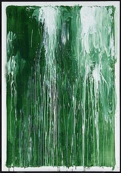 Cy Twombly (American, 1928-2011), Untitled VI (Green Paintings), c.1986. Acrylic on plywood with artist's frame, 194 × 134.5 cm