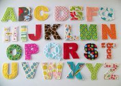 Abecedario de letras para aplicar tela