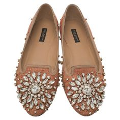 22273d885 Buy Dolce and Gabbana Pink Raffia and Leather Crystal Embellished Smoking  Slippers Size 38 56745 at