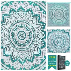 Shop Green Indian Hippie Ombre Mandala Bohemian hippie bedspread Tapestry.A Highest Quality to give a urban look to our bedroom interior Tapestry in our budget.