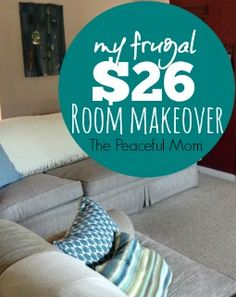 Update your home for the holidays! My $26 Room Makeover {+ tips to makeover YOUR room on a budget!} -- from ThePeacefulMom.com