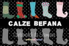 Calze Befana fai da te- pattern  DIY stockings