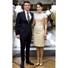 The Crown Prince and Crown Princess of Denmark held a dinner at the Christiansborg Palace on November 7 2015.
