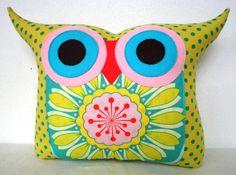 NEW/ Polyfil Stuffed flower bed 2 owl pillow/Ready by fongstudio, $23.00
