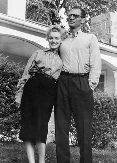 Marilyn Monroe and Arthur Miller  | See more Portrait Photography at https://www.1stdibs.com/art/photography/portrait-photography on 1stdibs