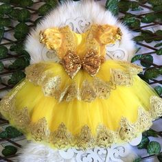 Beauty and the Beast dress/Belle princess gown/yellow dress/sequin dress/princess dress/ belle tutu dress/princess inspired dress/Couture Beauty And The Beast Cake Birthdays, Beauty And Beast Birthday, Ariel Dress, Belle Dress, Little Mermaid Dresses, Flower Girl Dresses, Disney Inspired Dresses, Beauty And The Beast Dress, Baby Girl Birthday Outfit