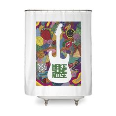 """""""Make some noise (music)"""" #shower #curtain by #Beatrizxe 