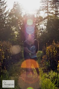 Outdoor Engagement Photos - Posing and clothing ideas and inspiration for couple and engagement photography sessions. Photos by ecreative (Elena Nicole) Olean and Buffalo NY Wedding and Portrait photographer. Photo taken a sunset at Allegany State Park in Salamanca, NY.
