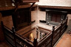 Newari interior staircase