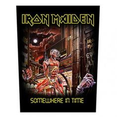 Iron Maiden - Somewhere in time selkamerkki Band Jacket, Somewhere In Time, Time Design, Patch Design, Back Patch, Gothic Outfits, Iron Maiden, Printed Cotton, Patches