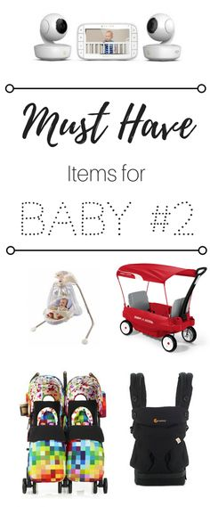 Preparing for Baby #2? These 5 baby products will help the transition from one baby to two a whole lot easier. | baby products | toddler | kids | two children | two kids | double stroller | wagon | video monitor | baby swing | baby wearing | baby carrier | ergo | radio flyer | motorola | cosatto | fisher price | ergobaby | babies | siblings | toddlers