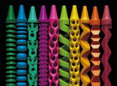 carved crayons by Herb Williams