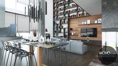 Otwarte przestrzenie i przestronność to charakterystyczne elementy wnętrz zaprojektowanych nowocześnie. Po więcej inspiracji zapraszamy na Naszą stronę internetową:biuro@monostudio.pl oraz na Facebooka