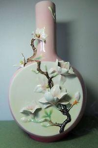 FRANZ PORCELAIN Magnolia Large Vase FZ02418 Limited Edition | eBay