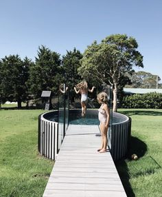 Allcast Precast based on the Sunshine Coast offers a wide range of concrete water tanks & plunge pools in Brisbane, Gold Coast & Regional QLD. Small Backyard Pools, Small Pools, Backyard Landscaping, Above Ground Pool, In Ground Pools, Kleiner Pool Design, Small Pool Design, Stock Tank Pool, Shed Homes