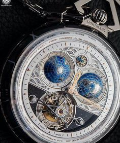 Montblanc Villeret Tourbillon Cylindrigue vorld time