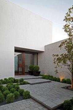idée d'aménagement de l'espace extérieur contemporain