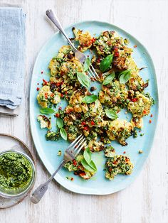 Bursting with flavour, this Cauliflower Pesto Salad is great as a side or even as a meal on its own.  www.hydroproduce.com.au