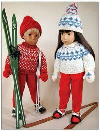 Norwegian Pullover, left, and the Swedish Bohus Pullover, right. (Photograph courtesy of the authors of Sasha Dolls: Clothing and Patterns)