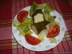 Pebrots verds farcits de truita de patata