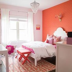1000 images about orange pink decor on pinterest for Pink and orange bathroom ideas